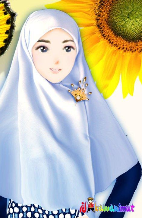 kartun berjilbab Animasi Muslimah Berjilbab